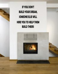 JC Design 'If you don't build your dream...' Motivational Quote Wall Decal