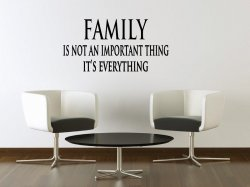 JC Design 'Family is not an important thing. It's everything.' Amazing Wall Deco