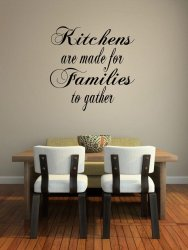 JC Design 'Kitchens are made for Families to gather.' Large Wall Decoration