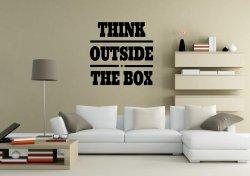 JC Design 'Think outside the box' Amazing Wall Sticker