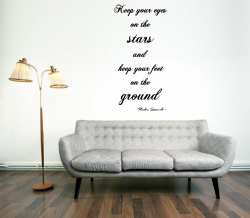 JC Design 'Keep your eyes on the stars and keep your feet on the ground.' Amazin