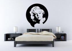 Portrait of Marilyn Monroe - Vinyl Art Decor