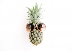 Pineapple in the sunglasses Modern Fashion Minimalist Poster