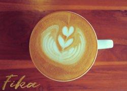 Fika Swedish Coffee Stylish Poster for Kitchen, Cafe, Restaurant...