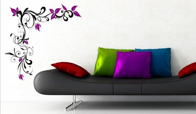 Fantasía Pared Vinilo Diseño Esquina adhesivo IMPRESIONANTE Decoración 120cm X