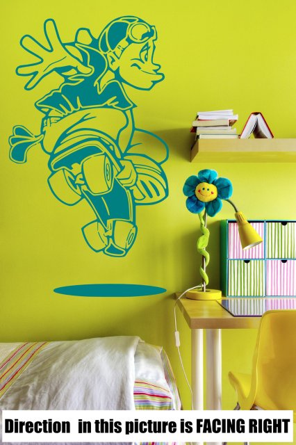 Crazy Skater Kids / Teenager Room Wall Sticker