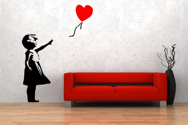 Banksy Style Balloon Girl 'There is always hope' Wall ...