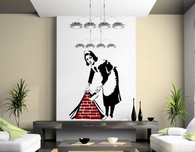 Banksy Maid In London Wall Sticker