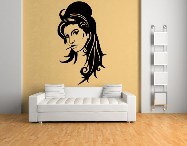 Full Wall Mural Decals: Amy Winehouse Large Wall Sticker