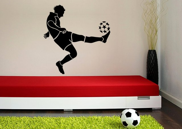 Football Player Boy S Room Wall Sticker Wall Stickers