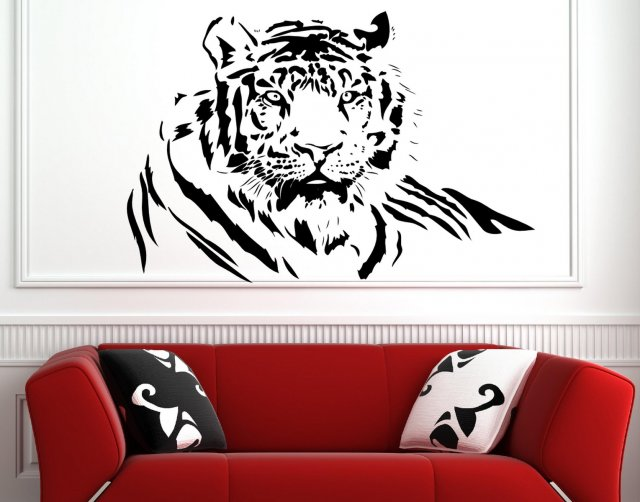 Bengal tiger large wall sticker wall stickers store - Stickers para decorar paredes ...