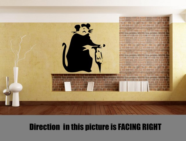 Banksy Style Hammer Rat Wall Decor | Wall Stickers Store - UK shop ...