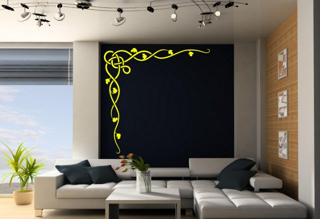 Celtic Vine Corner Giant Wall Decoration Wall Stickers