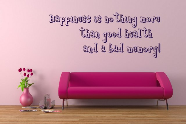 Funny Wall Quote Happiness Nothing More