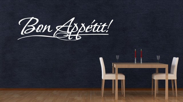 39 Bon Appetit 39 Large Wall Quote Kitchen Dining Room Wall Sticke