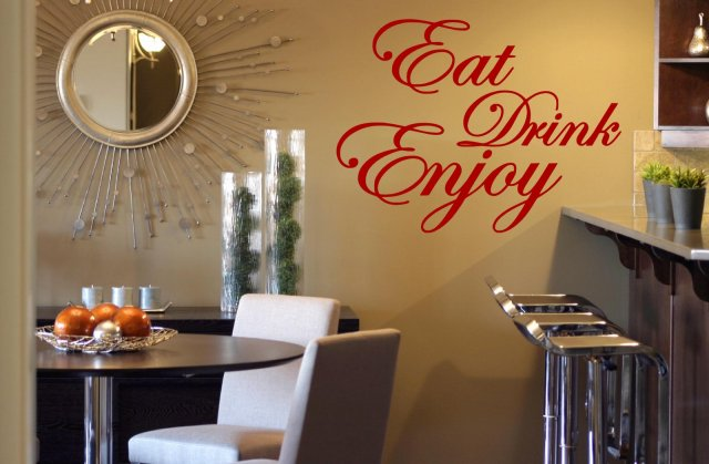 39 eat drink enjoy 39 quote stickers kitchen dining room
