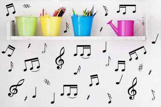 32 music notes car laptop wall fridge vinyl stickers