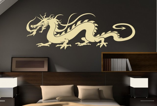 Car Decal Decor Sticker 45cm x 130cm UK Traditional Chinese Dragon Huge Wall