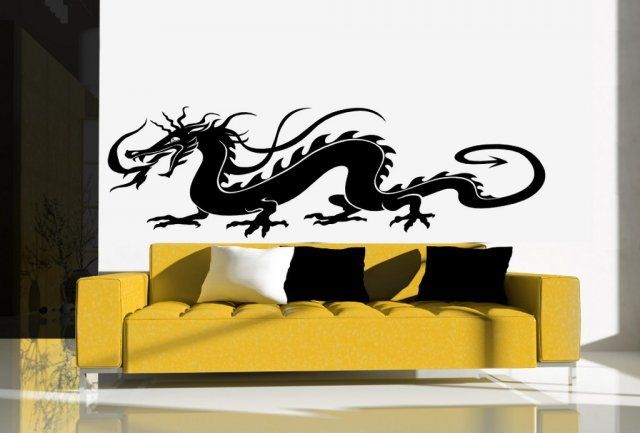 Traditional chinese dragon huge wall car sticker