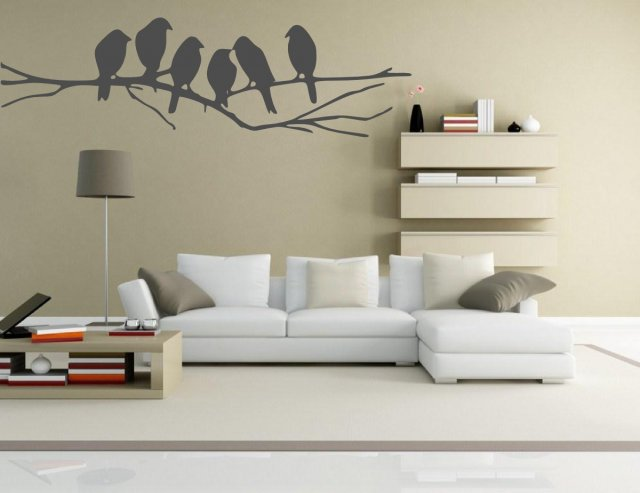 Cute Birds On The Branch Wall Decor. BIG SIZE!