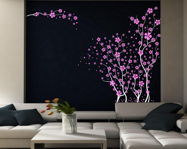 Japanese Cherry Blossoms Beautiful Large Wall Decoration