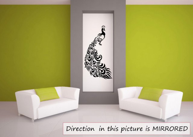 Peacock Big Tail Feathers Wall Tattoo Wall Sticker EASY TO ...