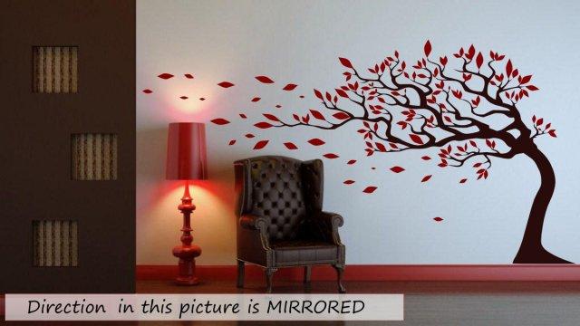 baum with bl tter blasen im ziehen wand sticker easy zu. Black Bedroom Furniture Sets. Home Design Ideas