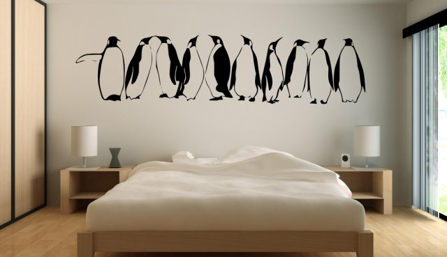 Penguins In Row Wall Decal Wall Stickers Store Uk Shop