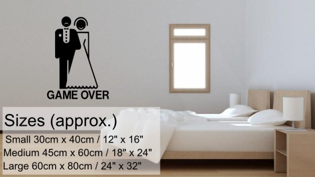 Game Over Funny Wall Sticker Wall Stickers Store Uk