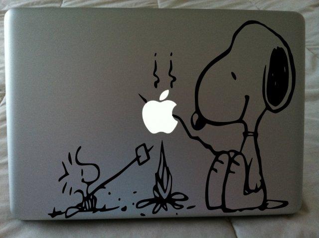 Laptop sticker snoopy dog