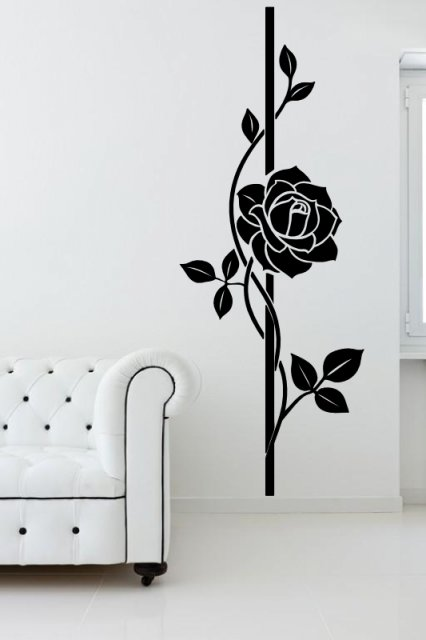 Beautiful Large Rose Wall Decal Wall Stickers Store Uk