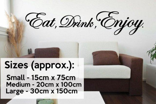 Eat Drink Enjoy Version 2 Horizontal Kitchen Dinning