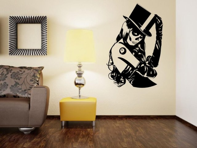 Zombie girl wall sticker wall stickers store uk shop for Zombie room decor