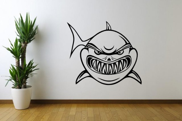 Frightening Shark Wall Decal Part 42