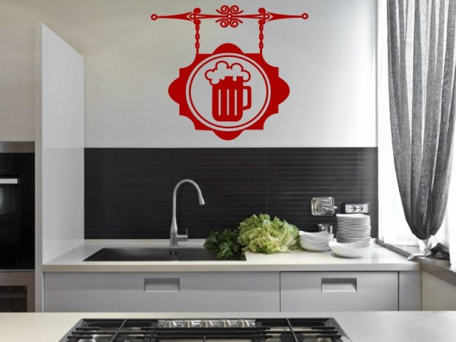Beer Kitchen Dining Room Pub Wall Decoration Wall Stickers Store UK Sho