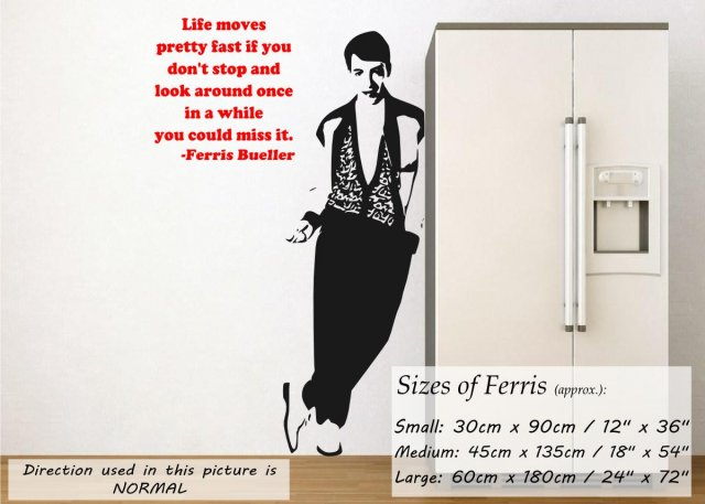 Ferris Bueller Quote Wall Sticker Wall Stickers Store Uk Shop With Wall Stickers Wall