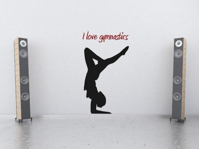 i love gymnastics wall sticker version 1 wall stickers gymnast wall decal gymnastics wall sticker splits