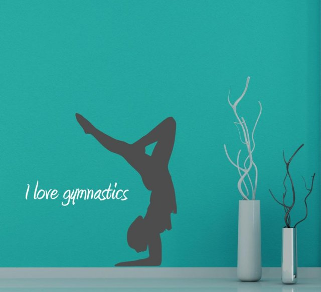 I Love Gymnastics Wall Sticker