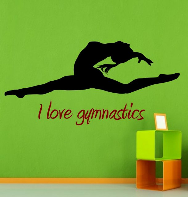pics photos love gymnastics wall decals buy wall potential stickers creative ballet dance studio