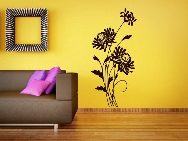 Giant Flowers Beautiful Wall Decor Wall Stickers Store