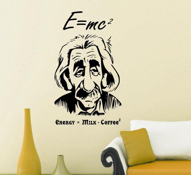 Albert Einstein eu003dmc2 Wall Art  sc 1 st  Broomsticker & Albert Einstein eu003dmc2 Wall Art | Wall Stickers Store - UK shop with ...