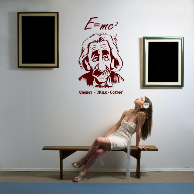Albert Einstein E Mc2 Wall Art Wall Stickers Store Uk