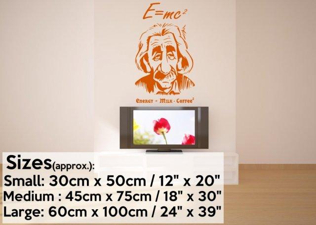 Albert Einstein e=mc2 Wall Art | Wall Stickers Store - UK shop with ...