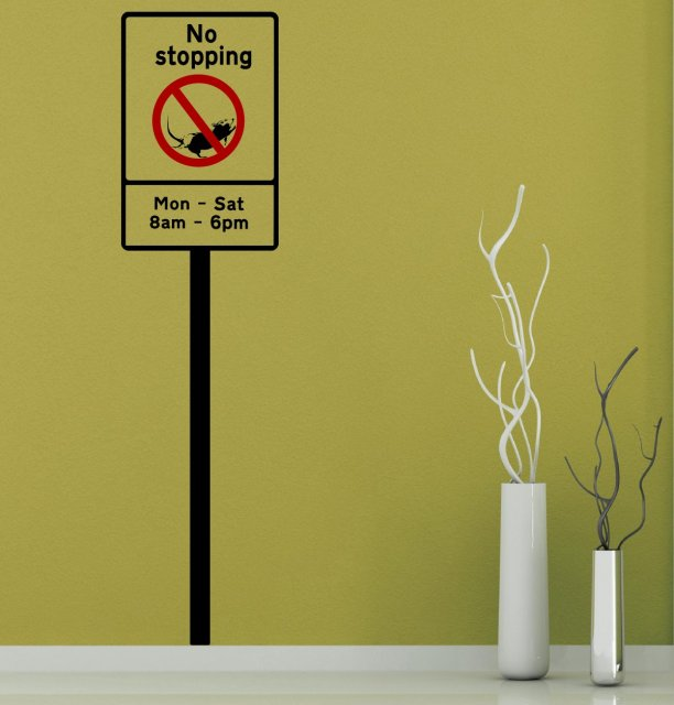 Banksy No Stopping Sign Complete With Pale Vinyl