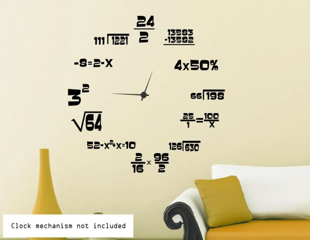 2 Way Light Switch >> Maths Geeks' Clock Background | Wall Stickers Store - UK shop with wall stickers, wall decals ...