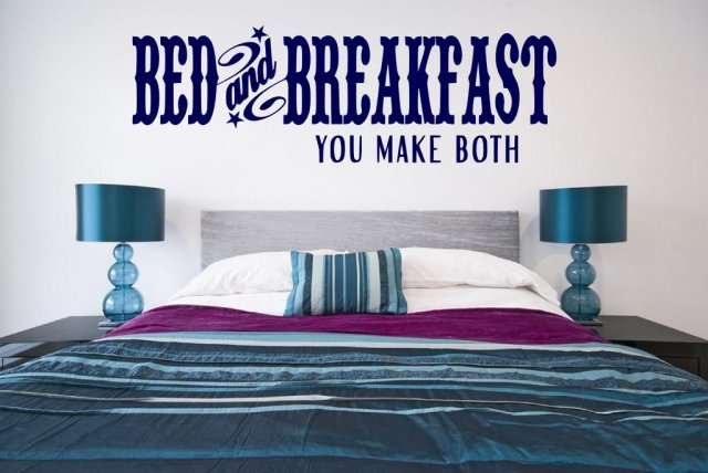 Bed And Breakfast You Make Both Large Wall Quote