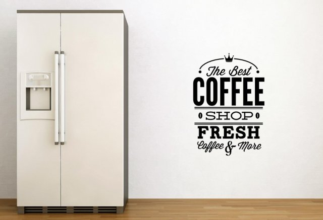 39 the best coffee shop fresh coffee and more 39 perfect wall decor wall stickers store uk - Wall decor stickers online shopping ...