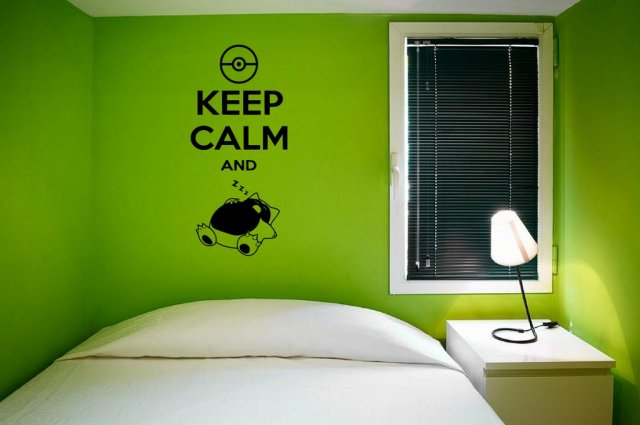 Pokemon Wall Decor keep calm and zzzzzzz' - funny 'pokemon' wall decoration | wall