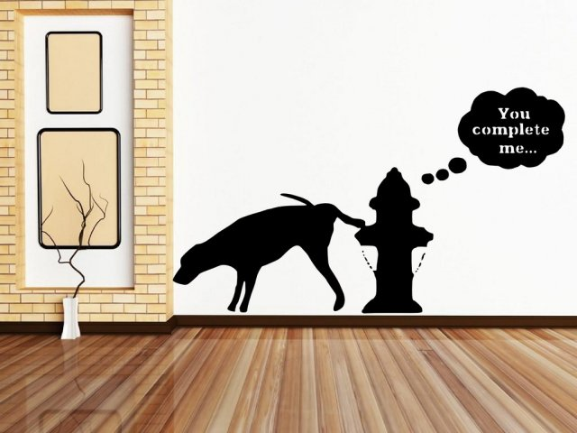 Banksy Ny Graffiti 2013 You Complete Me Wall Stickers