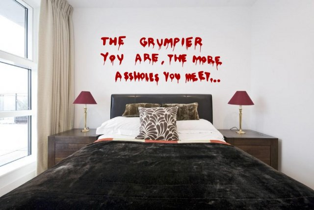 Banksy graffiti 2013 the grumpier you are large vinyl decal